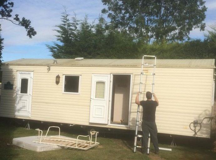site my static caravan