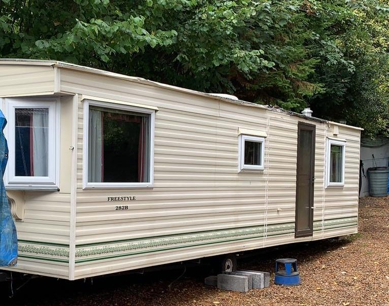 site a static caravan on private land, self build