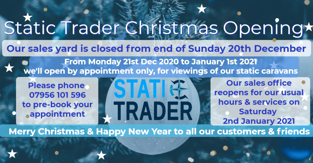 Static Trader Christmas Opening hours 2020